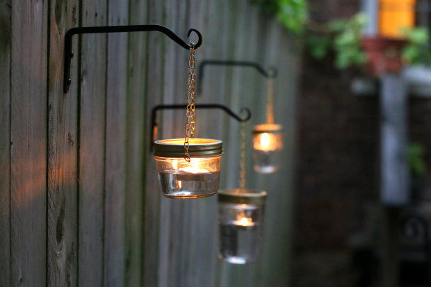Diy outdoor hanging mason jar lights pictures photos and images diy outdoor hanging mason jar lights aloadofball Image collections