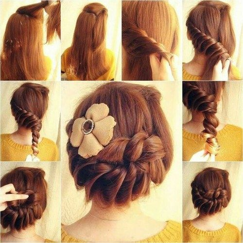how to do cute hair styles diy braided updo pictures photos and images for 1030 | 131992 Diy Braided Updo