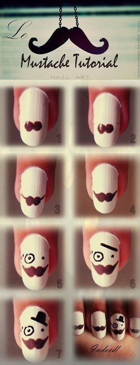 Mustache Nail Art Tutorial Pictures Photos And Images For Facebook
