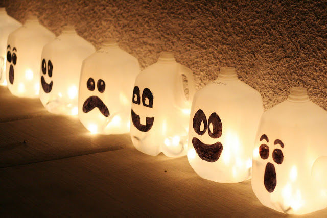 Halloween Milk Jug Decorations Pictures, Photos, and