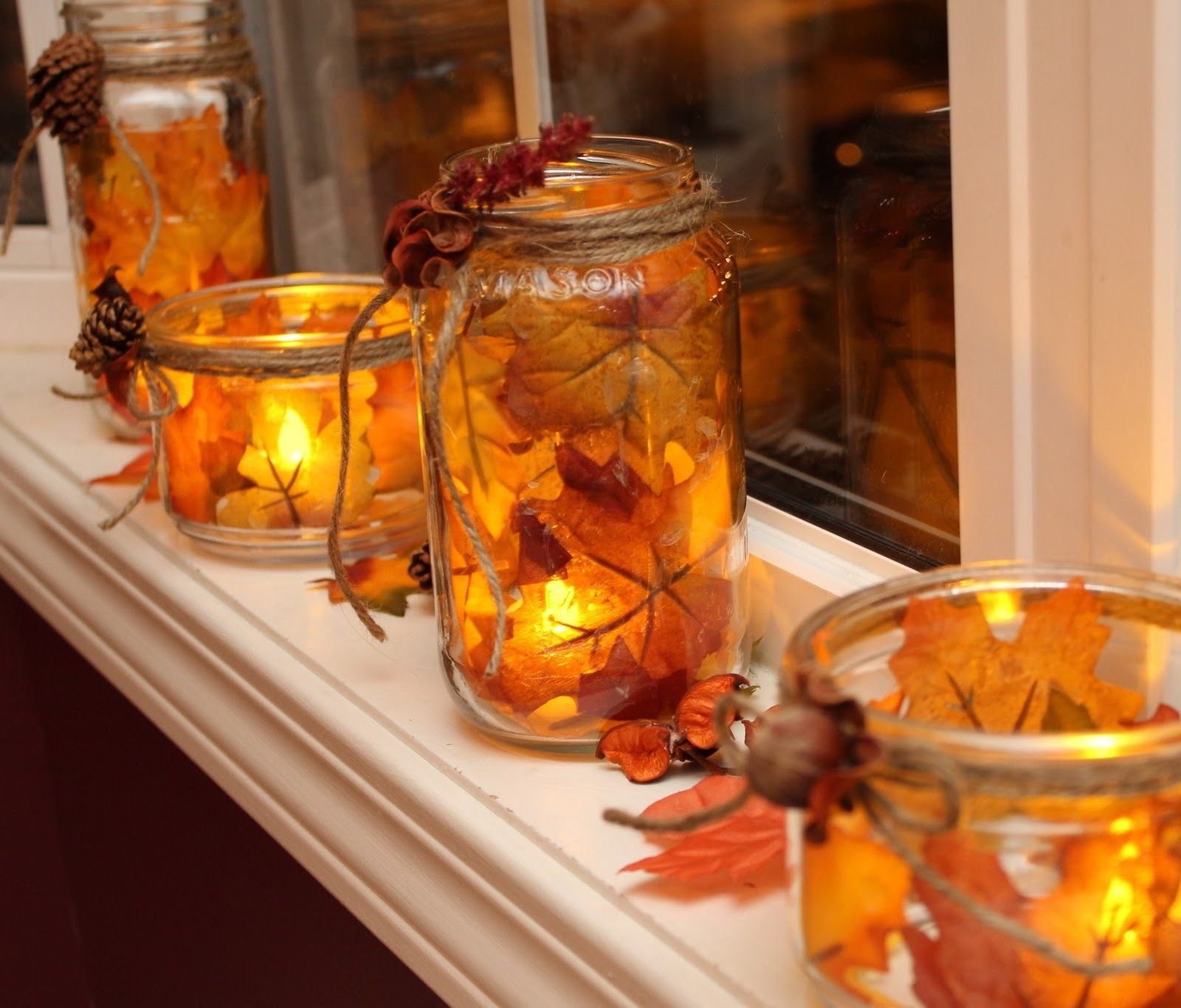 Autumn leaf candles pictures photos and images for for Fall diy crafts pinterest