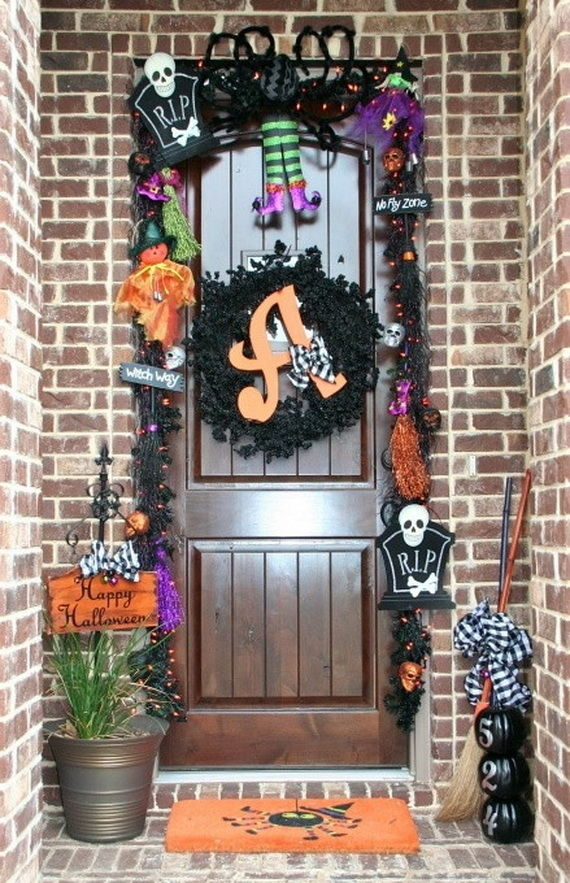 Halloween Decorated Front Door Pictures Photos And