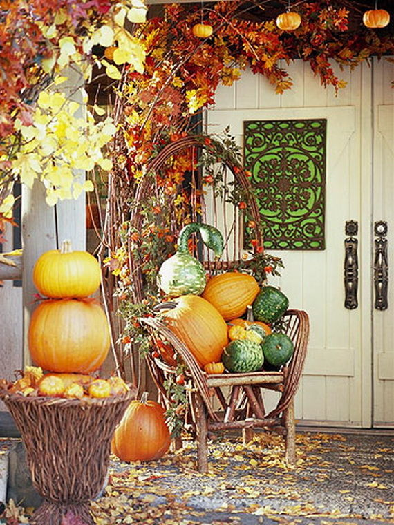 Nicely Fall Decorated Front Porch Pictures Photos And