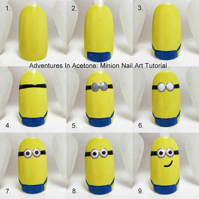 Diy minion nail art pictures photos and images for facebook diy minion nail art solutioingenieria Gallery