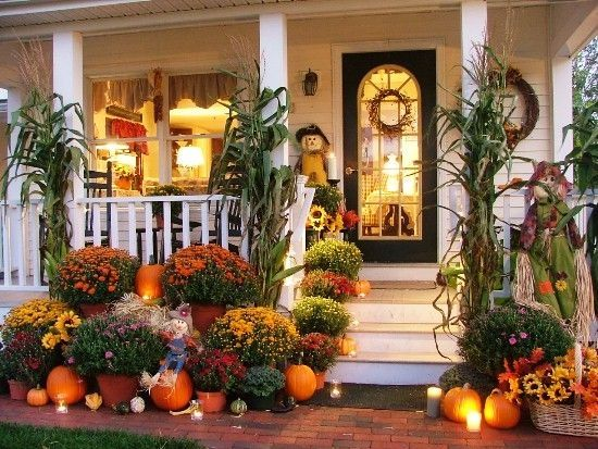 house beautifully decorated for fall pictures photos and
