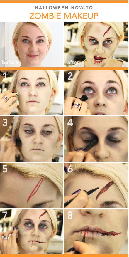 Diy halloween zombie makeup tutorial pictures photos and images diy halloween zombie makeup tutorial solutioingenieria Images