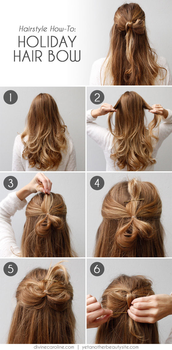 DIY Holiday Hairbow Hairstyle Pictures Photos And Images For - Hairstyle diy tumblr