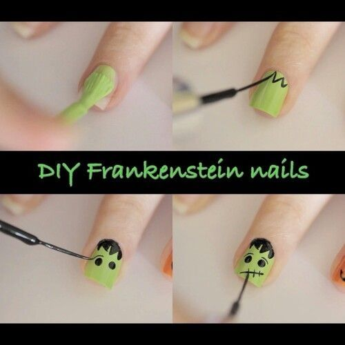 Diy Frankenstein Nails Pictures Photos And Images For Facebook