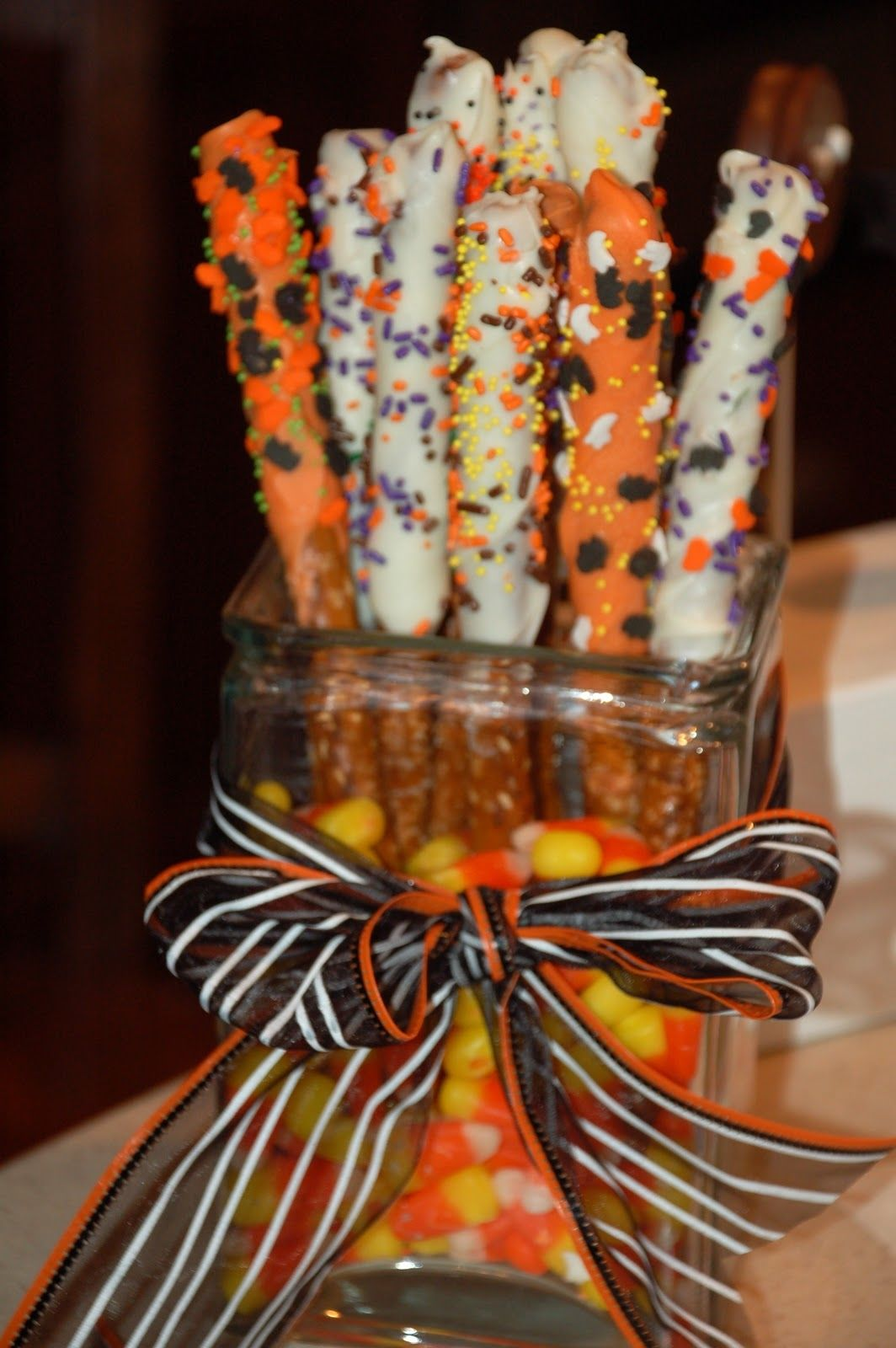 Halloween Pretzel Rods Pictures Photos And Images For