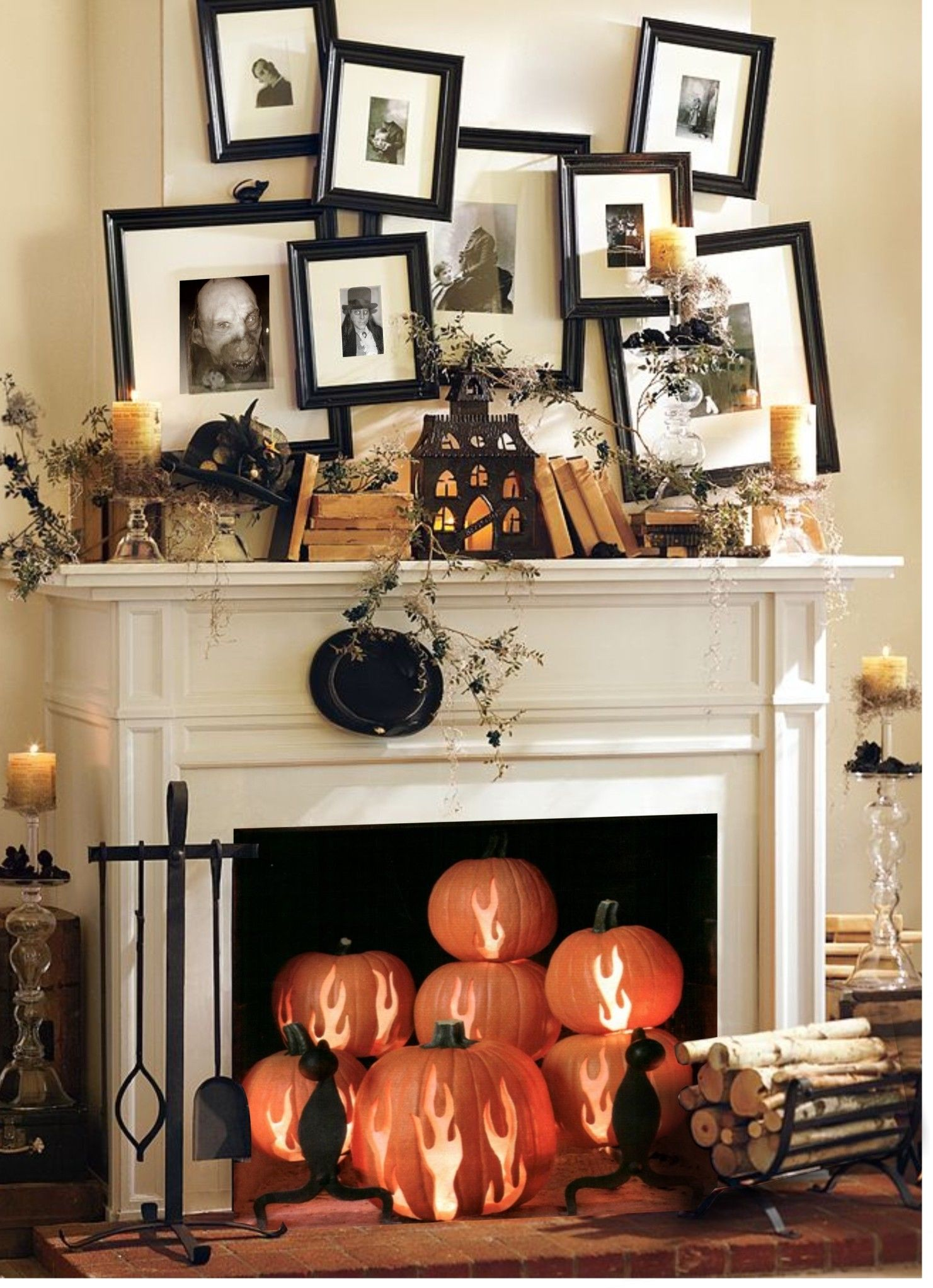 Creative halloween living room decor pictures photos and for Creative room decor
