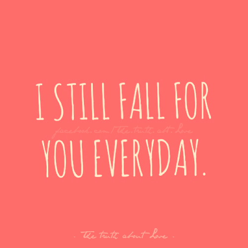 I fall for you