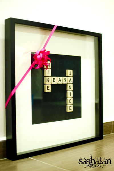 Diy Birthday Gift Scrabble Tile Names Pictures Photos And