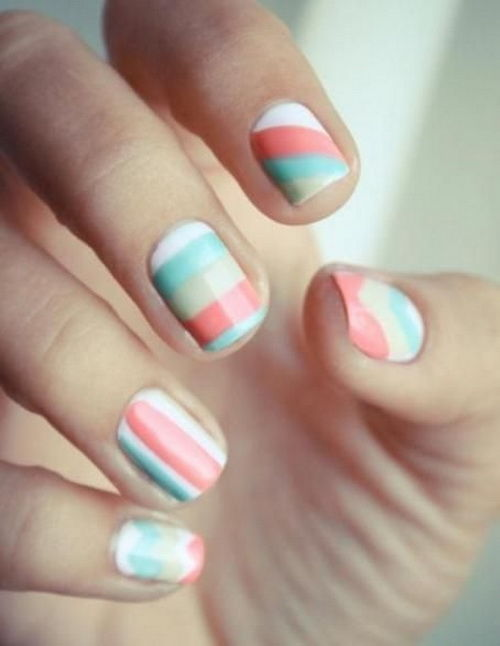 Pastel Stripe Nail Art Pictures Photos And Images For Facebook