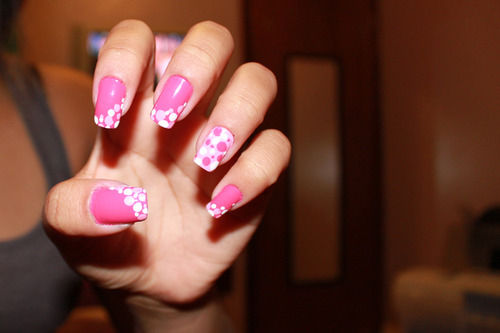 Pink bubble polkadot nail art pictures photos and images for pink bubble polkadot nail art sciox Images