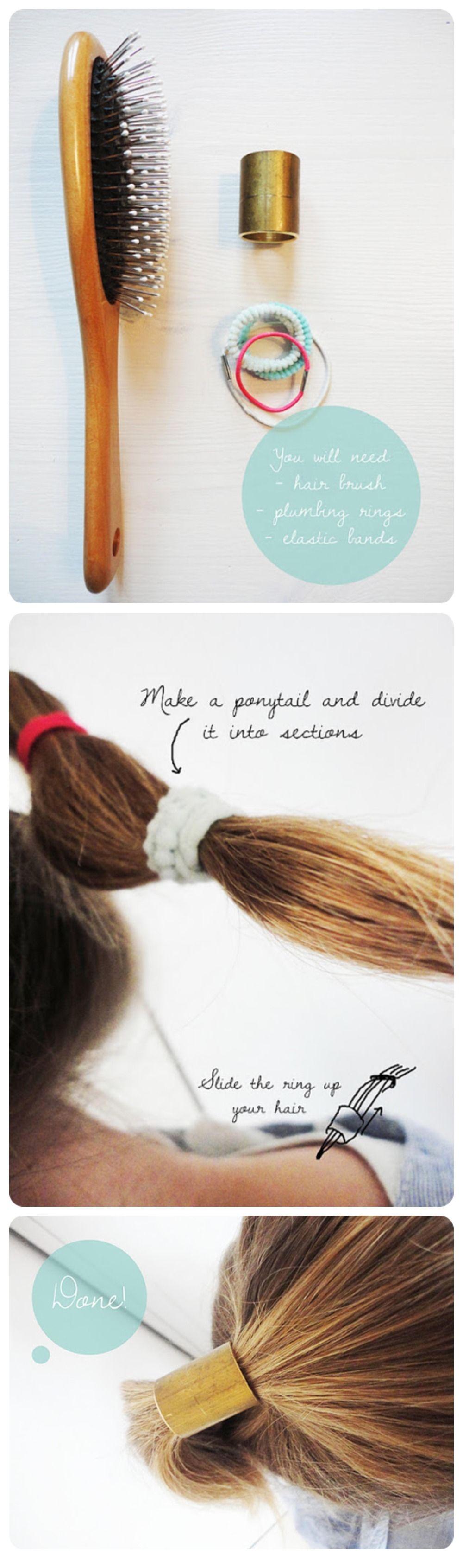 DIY Hair Cuff Crafthubs - Ponytail cuff diy