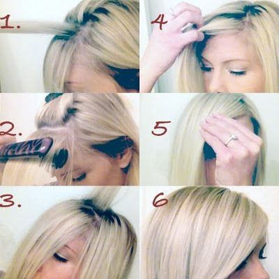 Diy side swept bangs pictures photos and images for facebook diy side swept bangs solutioingenieria