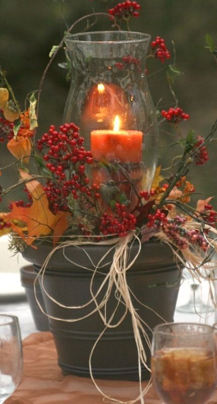 Diy fall centerpiece pictures photos and images for for Modern fall table decorations