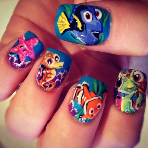 Finding nemo nails pictures photos and images for facebook finding nemo nails prinsesfo Gallery