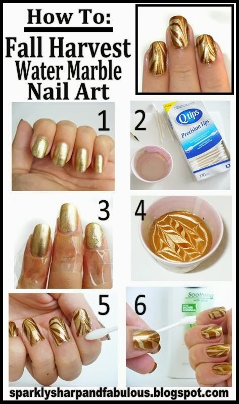 Fall Marble Nail Art Pictures Photos And Images For