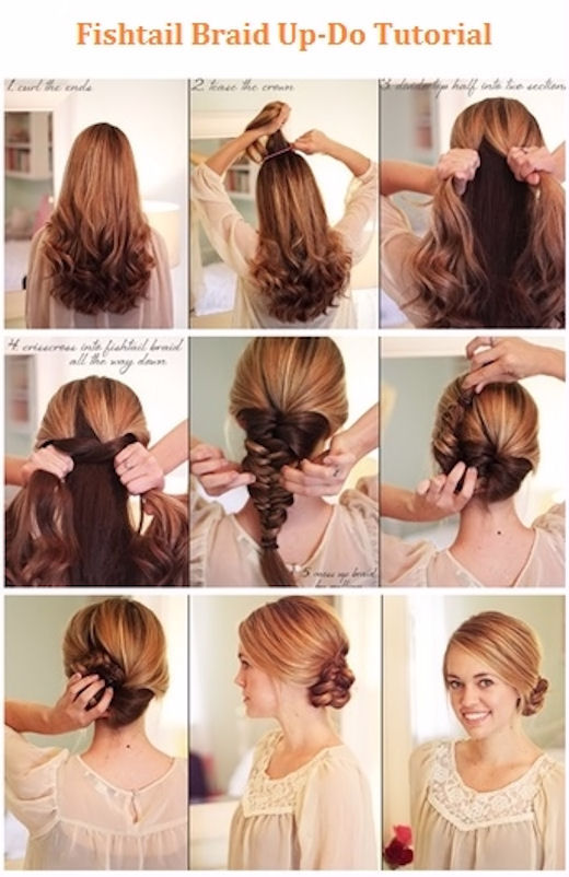 Fishtail Braided Updo Hair Pictures Photos And Images For Facebook