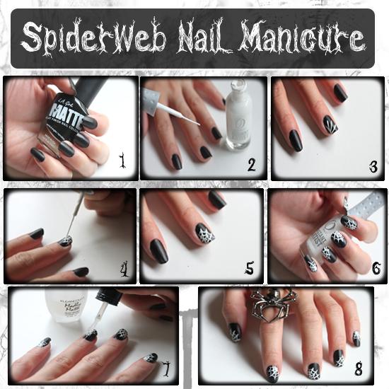 Diy Spider Web Nail Tutorial