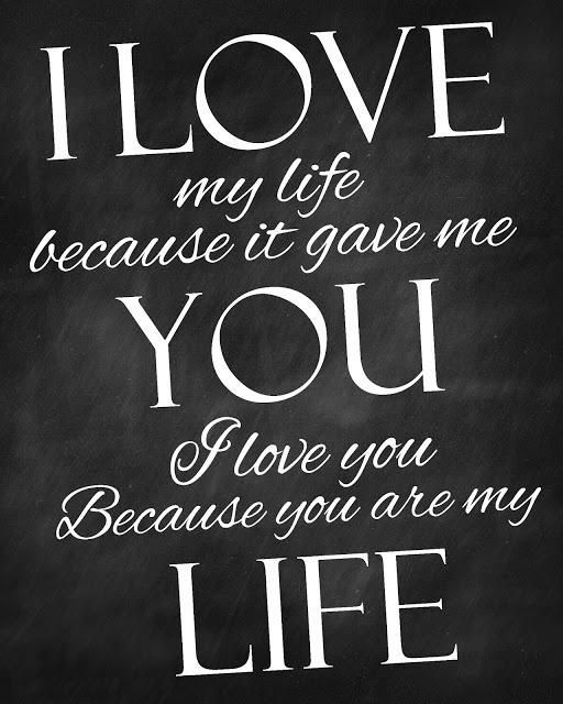 You N I Love Quotes : love it i love you because you are my life