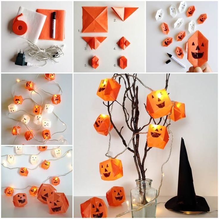 Diy Origami Pumpkin Lights Pictures Photos And Images
