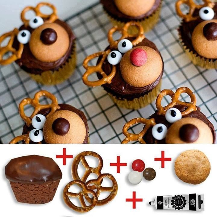 diy reindeer cupcakes pictures photos and images for. Black Bedroom Furniture Sets. Home Design Ideas