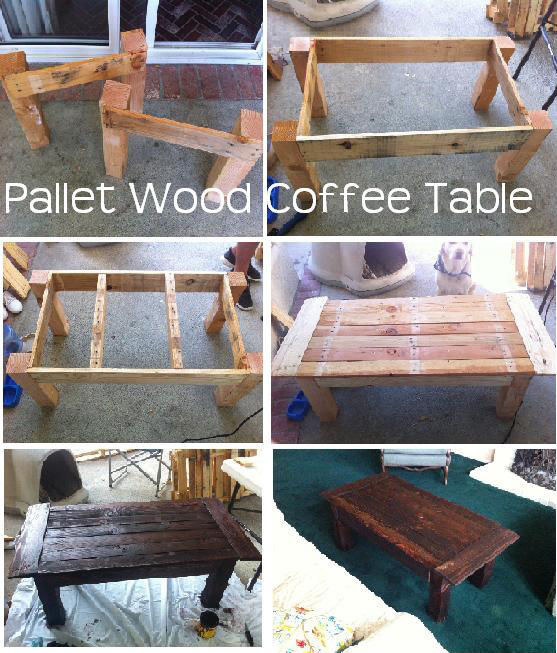 Diy Pallet Wood Coffee Table Pictures Photos And Images For