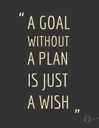 A Goal Without A Plan Is Just A Wish Pictures, Photos, and Images ...