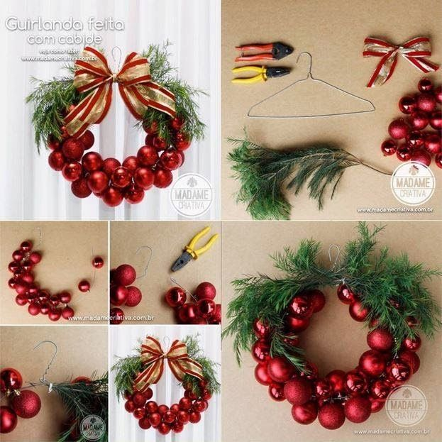 Diy easy christmas wreath pictures photos and images for - Comment faire une couronne de noel ...