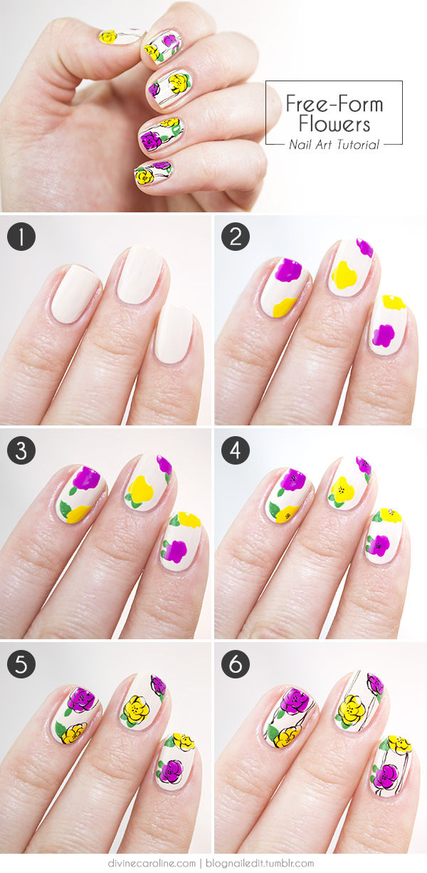 Diy Flower Nails Pictures Photos And Images For Facebook Tumblr
