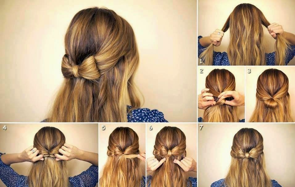Прическа для дома на средние волосы для девочек
