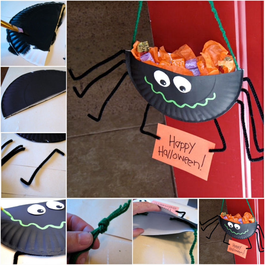 halloween spider candy holder pictures, photos, and images for