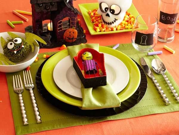 cute halloween place setting - Halloween Place Settings