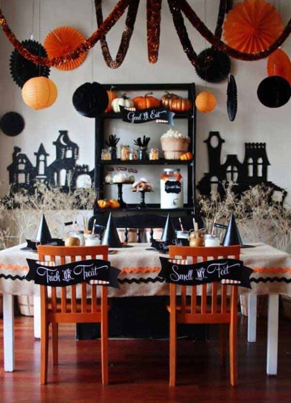 Black & Orange Party Decorations Pictures, Photos, And