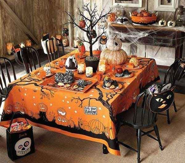 halloween party table buffet goody bags pictures photos and images for facebook tumblr. Black Bedroom Furniture Sets. Home Design Ideas