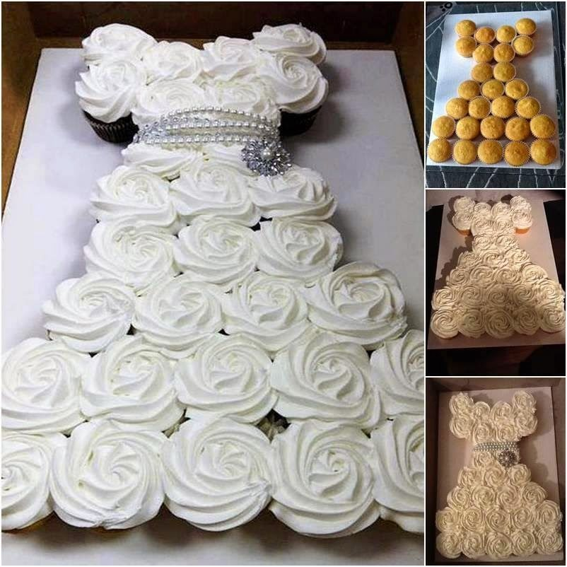 Bridal Shower Pull Apart Cupcake Cake Tutorial Pictures, Photos, and