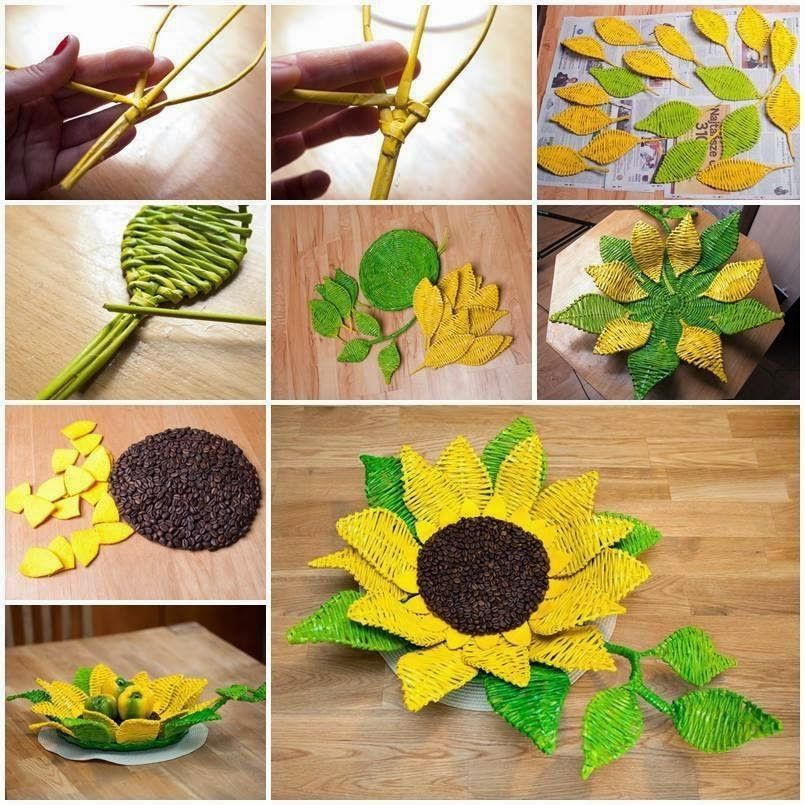 Diy Woven Paper Sunflower Tray Pictures Photos And