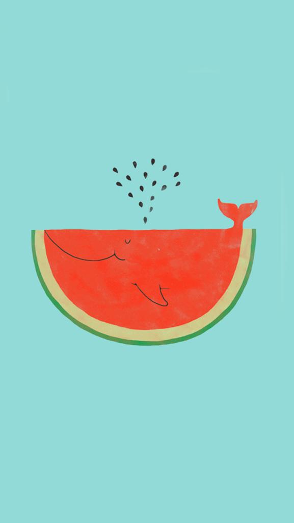 137001 Watermelon Whale Wallpaper