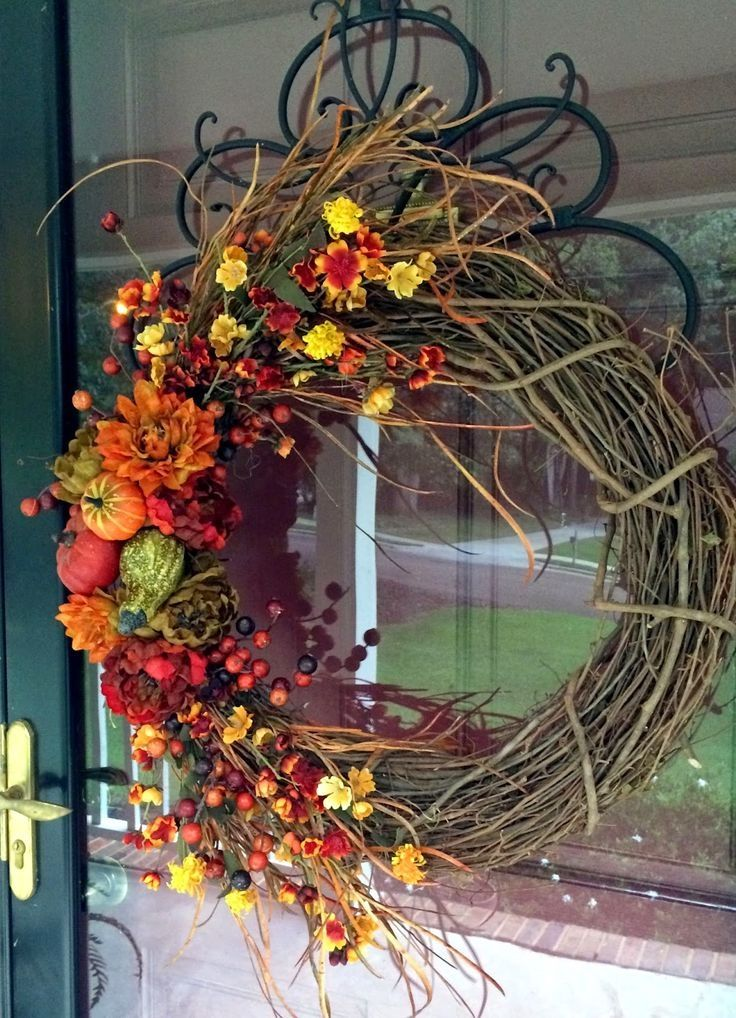 Beautiful Fall Grapevine Wreath Pictures Photos And