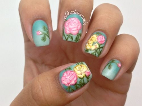 Rose nail design - Rose Nail Design Pictures, Photos, And Images For Facebook, Tumblr