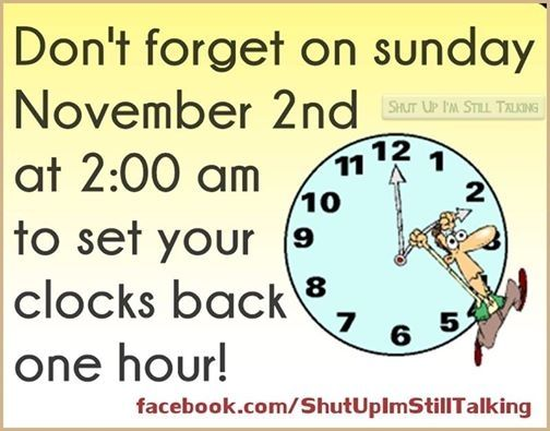 When Does the Time Change? Daylight Saving Time