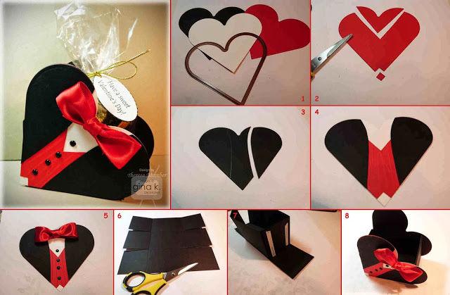 Подарок сердце из бумаги 846