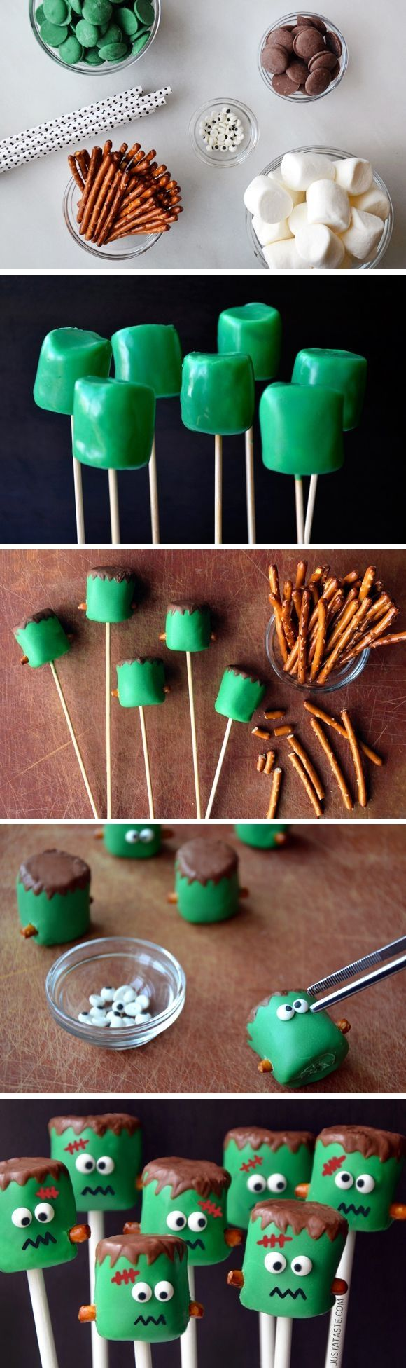 Diy frankenstein marshmallows pictures photos and images for Easy fun halloween treats for school