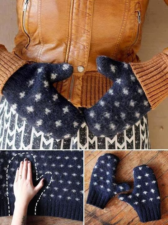 Diy Sweater Mittens Pictures Photos And Images For