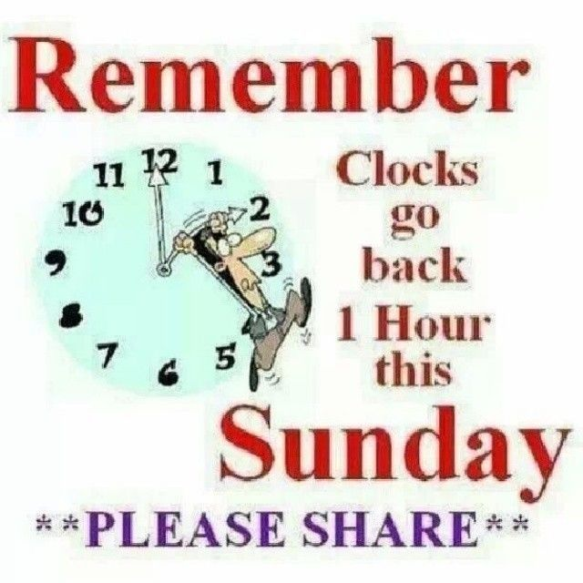 Remember Clocks Go Back On Sunday Pictures, Photos, and ...