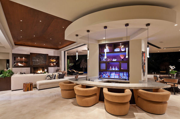 Luxury Home With Wrap Around Bar Pictures Photos And