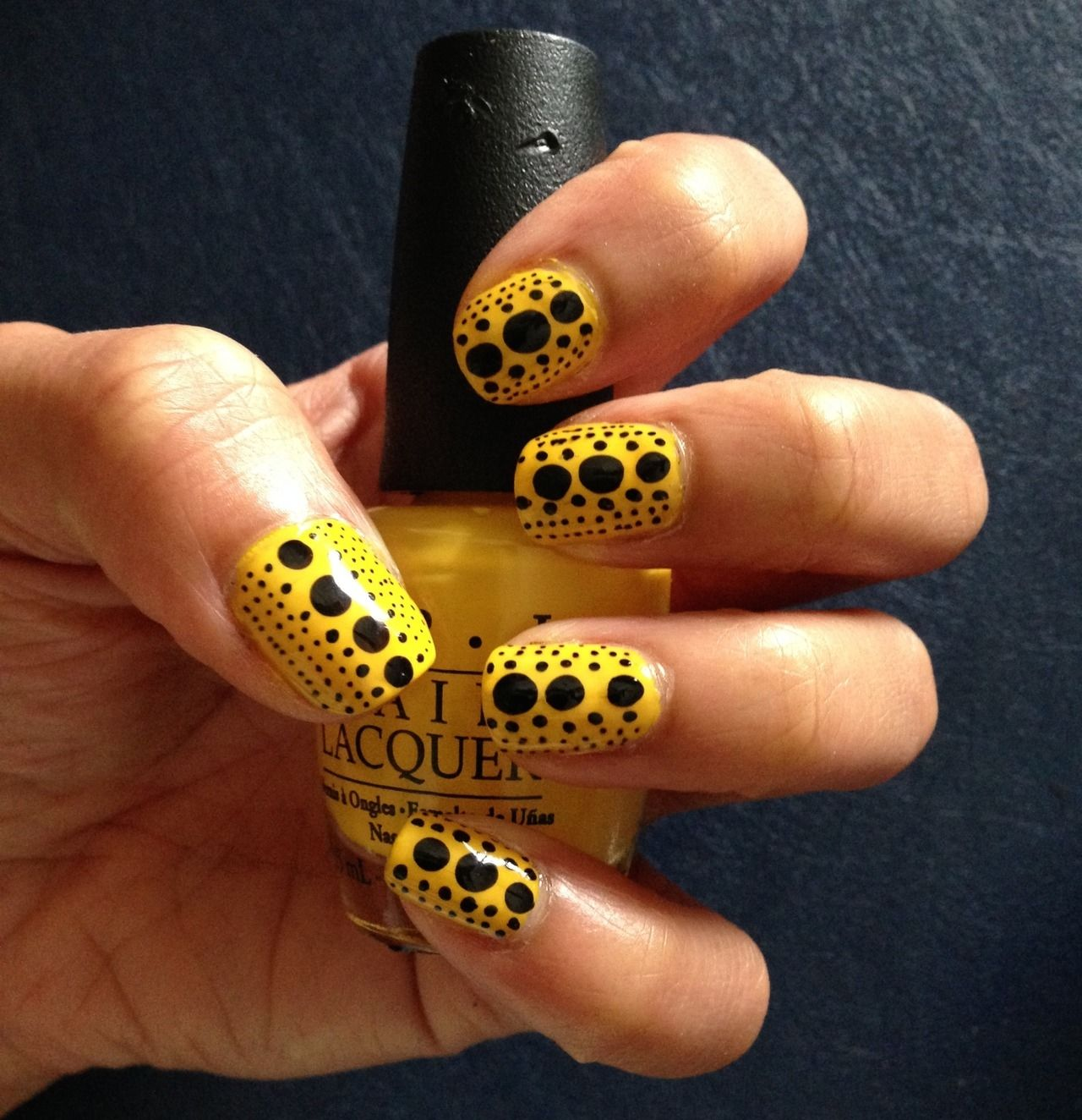 Dotted Yellow And Black Nails Pictures, Photos, and Images for ...