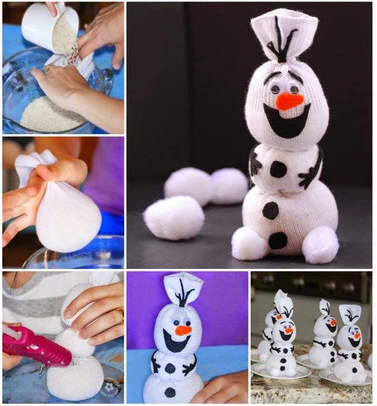 Как сделать снеговика своими руками фото из